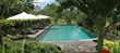 Pool at retreat center in Bali
