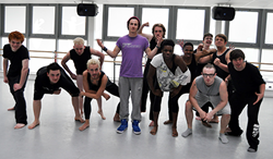 Male Dance and Drama students at Havering College of Further and Higher Education took part in a Lords of the Flies workshop