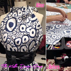 From start to finish, the process of sewing at The Koffa Design Group