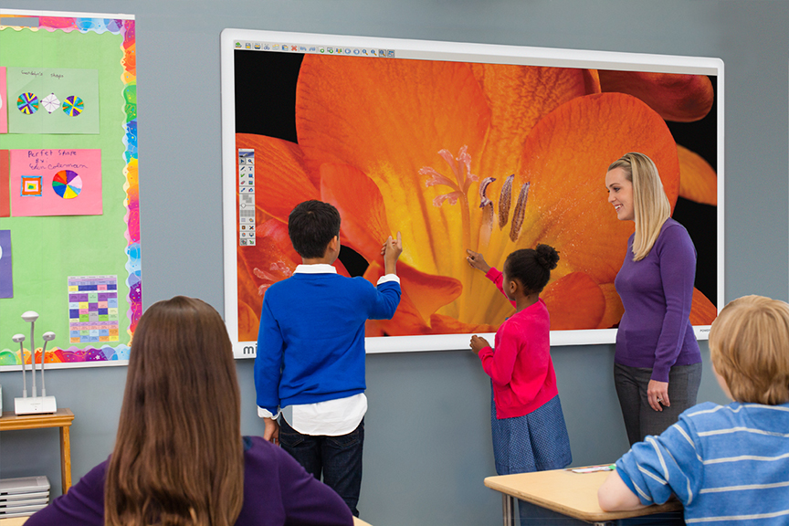 Collaborative In The Classroom ~ Mimio introduces mimiodisplay touch display and upgrades