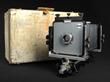 Ansel Adam's 4x5 view camera and case