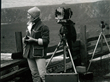 Liliane DeCock Morgan using Ansel Adam's 4x5 camera near  Carmel, CA, ca. 1968