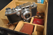 Willard D. Morgan's Leica IIIc, Nr. 418630, Elmar 35 mm lens Nr. 1556079, accessories and leather case.