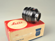 Leica f1.0/50 mm Noctilux-M, Nr. 3406354, (1986), with box, #12544 hood and caps.