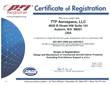 TTF Aerospace Receives AS9100 Certification