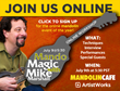 "ArtistWorks and Mandolin Cafe Present ""Mando Magic with Mike,"" a Live..."