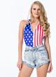GoJane American Flag Women's Bodysuit