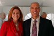 Heather Wagenhals of Unlock Your Wealth Radio and Dr. Joel F. Wade author of Mastering Happiness pose together at the Atlas Society Summit 2014 and kick off Season 20 of UnlockYourWealthRadio.com