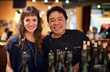 Wine maker Christina Turley with Chef Sam Choy at the Gourmet Vitner Dinner at Tutto Bene. Photo by Kelly Greer.