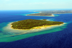 Power Island seen from the air