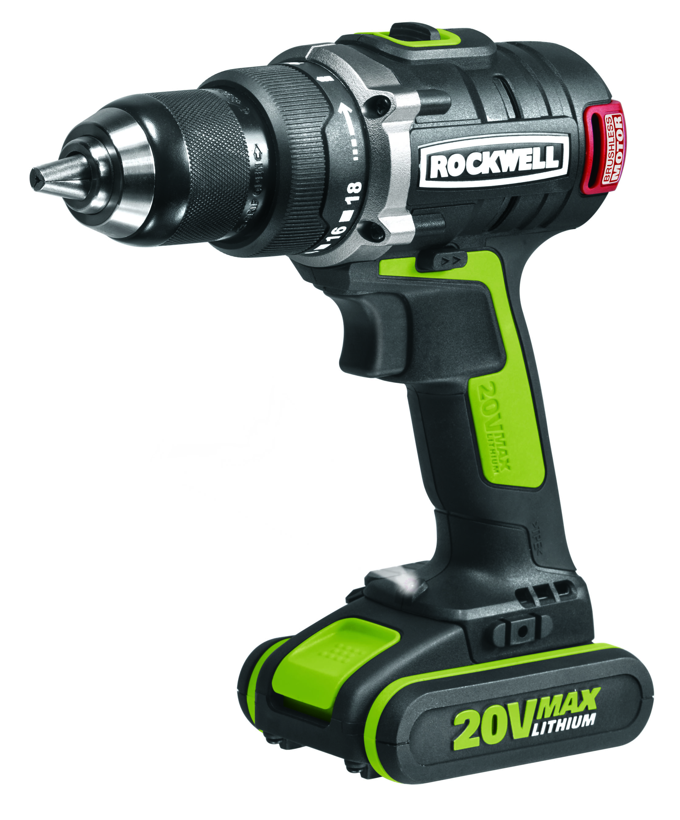 Rockwell S New Dynamic 20 Volt Brushless Drill Driver Includes 10 Year Motor Warranty