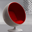 MIB Lounge Chair In Red From Zuo Modern 800002
