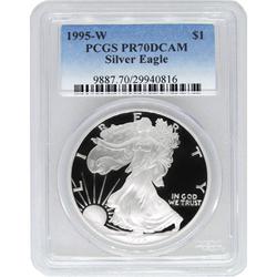 1995-W American Silver Eagle PCGS PR70 DCAM
