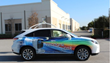 Roof-mounted LiDAR sensor provides object detection and collision avoidance data in real time