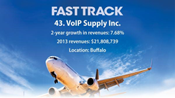 VoIP Supply earns 2014 Fast Track Award for top private companies in Western New York