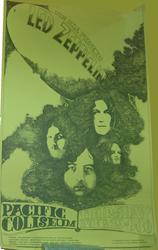 Vintage 1969-1972 Psychedelic Era Led Zeppelin Concert Posters