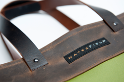 Franklin Tote—riveted handles