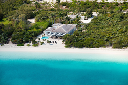 An aerial photograph of Blue Orchid Villa, Leeward Beach, Providenciales (Provo), Turks and Caicos Islands