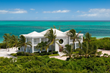 An aerial photograph of Beach Villa Oceanus, Grace Bay Beach, Providenciales (Provo), Turks and Caicos Islands
