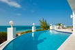A photograph of the swimming pool at Beach Villa Oceanus, Grace Bay Beach, Providenciales (Provo), Turks and Caicos Islands