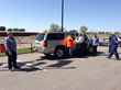 Infrasense engineers demonstrated the GPR equipment to interested members of the Idaho Transportation Department