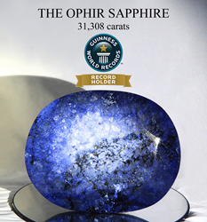 Certified by the Gemological Institute of America (GIA), The Ophir Sapphire has been recognized by GUINNESS WORLD RECORDS® as the Largest Faceted Sapphire in the World