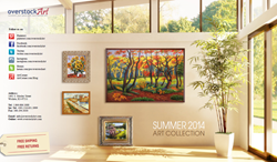 overstockArt.com Announces Release of its 2014 Summer Art Catalog