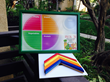 Colored Framed Dry Erase Menu Board