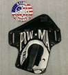 Stirn Holsters can custom create a holster with an organizations insignia.