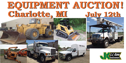 Used Equipment For Sale at Public Auction 07/12/14 Lansing, MI