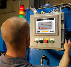 User of a Beckwood Hydraulic Press performs PPM Safety Check