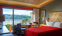 newly decorated guest rooms, new hotel, Lake House in Lake Placid