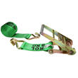 "4"" x 60' Green Ratchet Strap with Wire Hooks, $56.99"