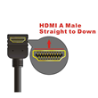 HDMI A Male straight to down