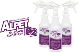 Best Sanitizers, Alpet D2 Surface Sanitizer, NSG and EPA registered