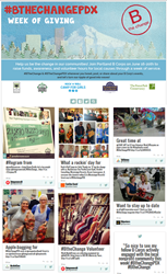 Portland B Corps lead Week of Service, Impact shown on CafeGive Social app