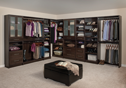 Wood-based WoodTrac Closet System