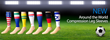 Around The World Compression Sleeves: Perfect for Runners With Soccer...