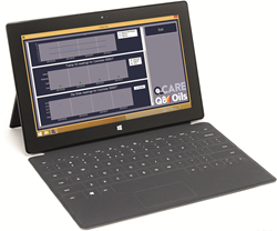 QCare uses a network-enabled, tablet-based system with bespoke 'app'