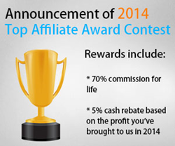 2014 top affiliate award contest