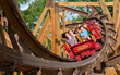 Outlaw Run is the world's first and only wood coaster with a double barrel roll.
