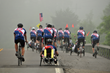 The CanAm Veterans' Challenge team rides in southern New York state.