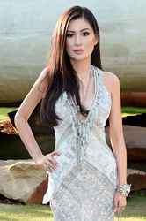 Rebecca Wang attends the 2014 Serpentine Summer Party - London