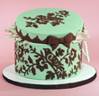 Cake by Elisa Strauss Featuring Decorations Made with Bird With Blossoms Silicone Onlay™