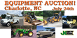 Large Public Auction, Charlotte, NC, July 24, 2014: Over 700 Items...
