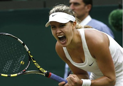Eugenie Bouchard 3-time Grand Slam semifinal appearance; at Wimbledon 2014