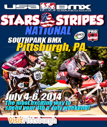 Southpark BMX in Bethel Park, PA will host the USA BMX Stars & Stripes National over 4th of July weekend.