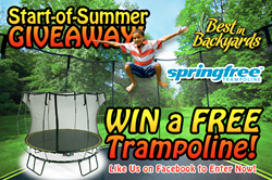 Best in Backyards in CT NY trampoline giveaway for summer