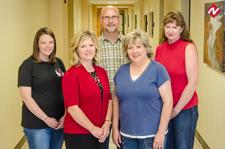 PN program faculty from left are Jennifer Harmon, BSN, RN; Jennifair Ditmanson, BSN, RN;  Darryl Gillit, MSN, RN; Debbie Day, MNSc,  RN, PN Program Director/Faculty and Melissa Doss, RN, PT Instructor