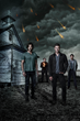 (L-R) Jared Padalecki, Mark A. Sheppard, Jensen Ackles and Misha Collins star in SUPERNATURAL, returning for season 10 Tuesdays 9/8c this fall on The CW. (© Warner Bros. Entertainment Inc.)